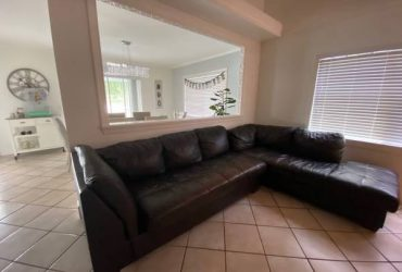 Leather Sectional (Plantation)