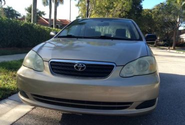 2008 Toyota Corolla CE , private seller, low miles , no accidents – $4500 (Weston)