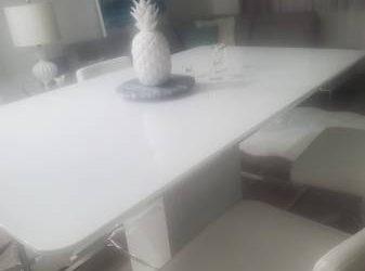 FREE! WHITE HIGH GLOSS LACQUER TABLE TOP (Boca Raton)