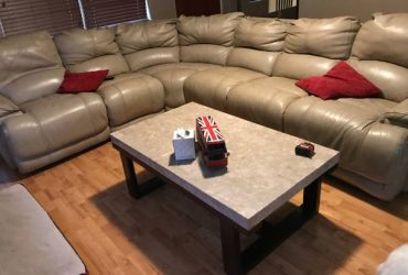 Leather sectional couch (Orlando)
