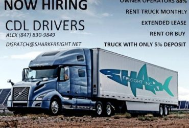 TRUCKS LEASE, RENT, COMPANY TEAM DRIVERS, OWNER OPERATORS 88% PAID (Miami,)