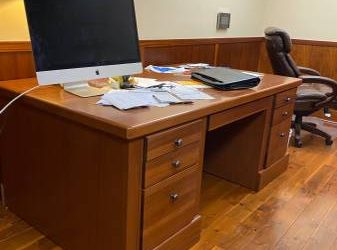 Large Exec Desk and computer tray and chair. Free (Upper West Side)