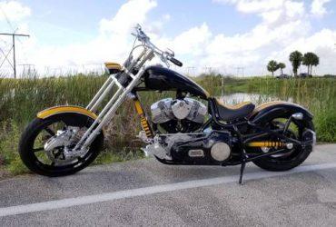 "Bourget Bike Works Bobber, 220mi, 93"" S&S Shovel Head, Custom Paint – $14000 (Hialeah)"