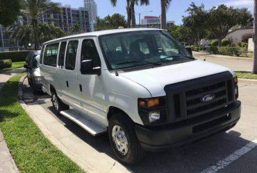 2013 Ford E350 , 15 passengers van /flex fuel,118k miles ,clean title – $8900