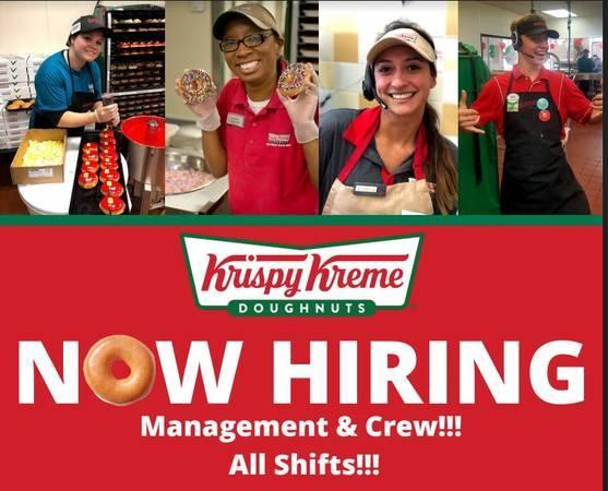 Work at Krispy Kreme!!! Now Hiring Management & Crew!!! 790 (albuequerque)