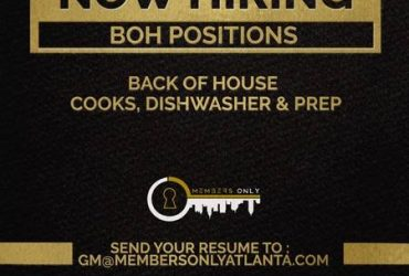 Now HIRING FOR ALL KITCHRN POSITIONS (Atlanta)