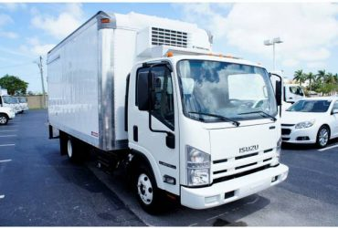 2020 Isuzu NPR XD, 16ft referigerated box truck. (pompano beach)