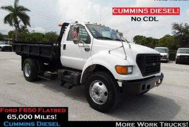 Ford F650 12' FLATBED STAKE TRUCK Service Utility Truck Flat Bed Truck – $13900 (Flatbed Truck)