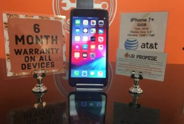 iPhone 7+ 32GB AT&T *6 Month Warranty* – $249 (Temple Terrace)