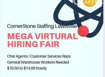 """""""Mega Virtual Hiring Fair"""" (Lewisville / Dallas / Grapevine)"""