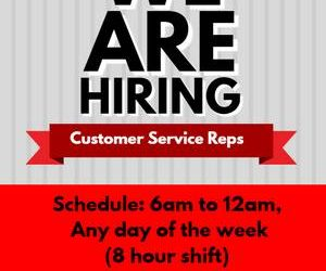 Customer Service Representative – MASS HIRING FAIR