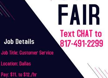 * HIRING FAIR * – Customer Service Reps