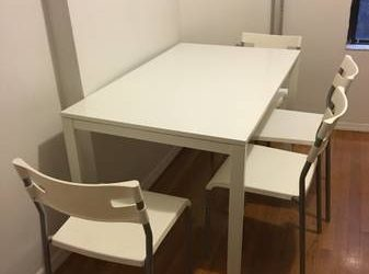 White Table and Chairs MUST GO TODAY (East Village)