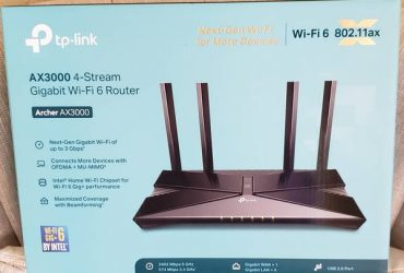 TP-Link Archer AX3000 Dual-Band Wi-Fi 6 Wireless Router – $80 (Pembroke Pines)