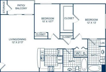 2br – 999ft2 – Controlled access gates, Smoke-free environment, Ceiling Fans