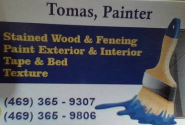 Painter & tape & bed exterior & interior (Dallas)