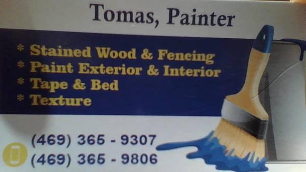 Painter & tape & bed exterior & interior (Dallas)