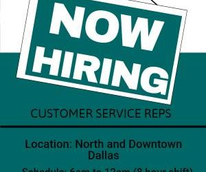 Multiply Customer Service Openings