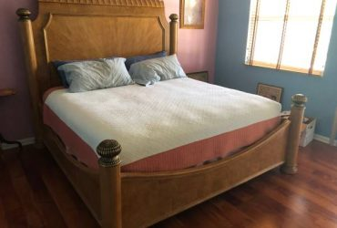 King mattress &box spring
