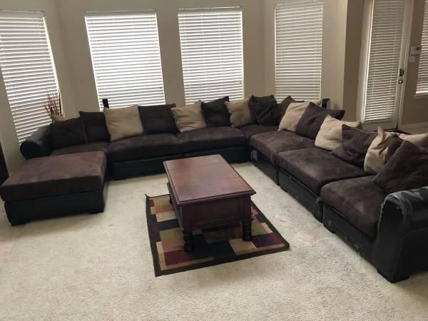 Free Used Huge Sectional Sofa Set (Houston)