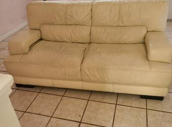 Free leather couch available (North Miami Beach)