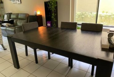 Dining table for 6-8 people with chairs (Boca Raton)