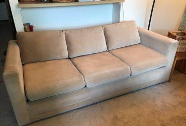 Free sleeper sofa. Soft beige fabric