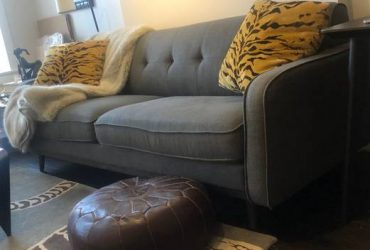 ARHAUS SOFA + Black Modern Table — FREE (Upper West Side)