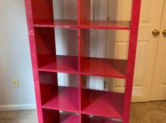 Ikea Kallax pink bookcase (CORTLANDT MANOR)