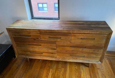 Free very nice wooden triple dresser (Gramercy)