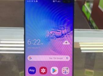 SAMSUNG GALAXY S10+ 128GB BLUE **UNLOCKED** – $600 (SUNRISE)