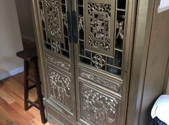 ~*~Carved Solid Wood Cabinet~*~ (Ridgewood)