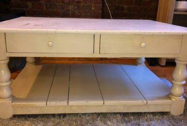 Free White Wooden Coffee Table (Upper West Side)