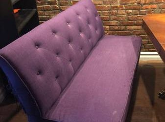 Free purple dining banquette / settee (Bushwick)