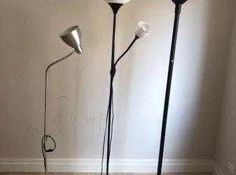 four floor lamps (Upper East Side)
