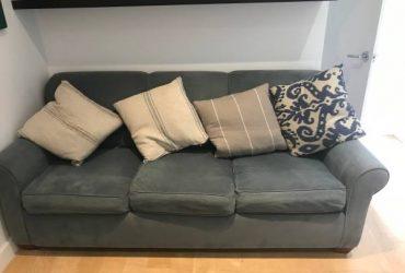 Grey Blue 3 seater sofa bed (Brooklyn)