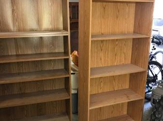 Formica bookshelves (Redding, CT)
