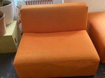 Free Orange sectional chair modular armchair (Chelsea)