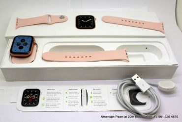 Apple Watch Series 5 44mm Gold-Tone Case Pink Band GPS + Cellular MWW0 – $399 (boca raton)