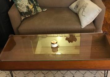 FREE Sofa bed (lovers seat) tan color (pick up only) (Upper East Side)