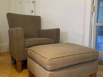 Free Armchair + Ottoman, hangers/ Pick up Saturday 7-11 at latest!! (Clinton Hill)