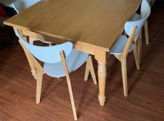 FREE Dining Set (Solid Wood Table + 6 Chairs) (Long Island City)
