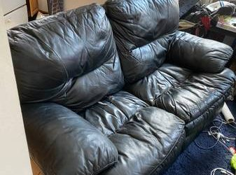 Two leather couches (Lower East Side)