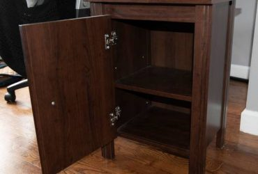 Ikea dark wood night stand (bedstuy)