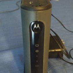 MOTOROLA 8×4 Cable Modem, Model MB7220 – $40 (old lake wilson rd)