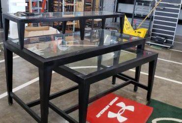 FREE FREE Store closing Glass tables display racks Heavy Metal T Bars