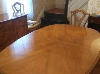 FREE DINING TABLE, CHAIRS, BUFFET, & CHINA CABINET (MIDWOOD)
