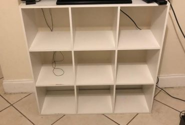 Free White cubbies/tv stand (South Miami)