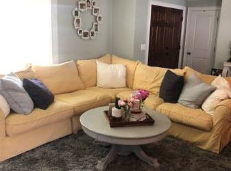 Baldwin Slipcover Sectional (free) (Clearwater)