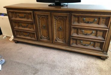 Large wood Dresser with Mirror (Homestead)